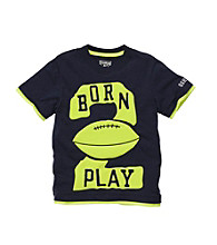OshKosh B'Gosh® Boys' 2T-4T Navy Short Sleeve Born to Play Tee