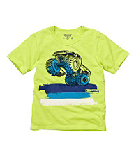 OshKosh B'Gosh® Boys' 4-7 Neon Green Short Sleeve Monster Truck Tee