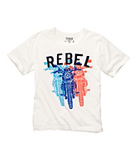 OshKosh B'Gosh® Boys' 4-7 White Short Sleeve Rebel Motorcycle Tee