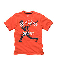 OshKosh B'Gosh® Boys' 4-7 Orange Short Sleeve Home Run Derby Tee