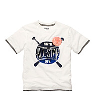 OshKosh B'Gosh® Boys' 4-7 White Short Sleeve All Star Tee
