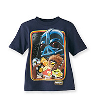 Angry Birds™ Boys' 4-7 Navy He's Watching Tee