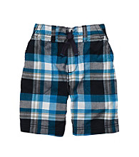 Carter's® Boys' 2T-7 Blue Plaid Pull-On Shorts