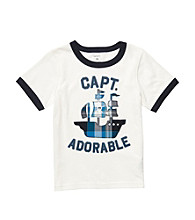 Carter's® Boys' 2T-4T White Short Sleeve Captain Adorable Tee