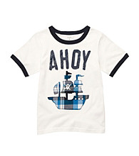 Carter's® Boys' 4-7 White Short Sleeve Ahoy Tee