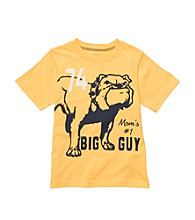 Carter's® Boys' 2T-7 Yellow Short Sleeve Bulldog Tee