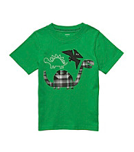 Carter's® Boys' 2T-4T Green Short Sleeve Plaid Dinosaur Tee