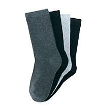Statements Boys' Black/Grey 4-pk. Crew Socks