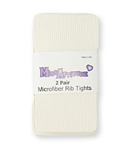 Miss Attitude Girls' 2-Pk. Ivory Microfiber Rib Tights