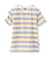 Mambo® Boys' 8-20 Short Sleeve Breaker Striped V-Neck Tee