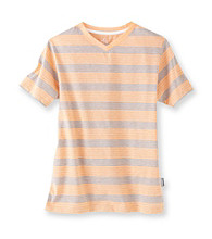 Mambo® Boys' 8-20 Short Sleeve Guster Striped V-Neck Tee