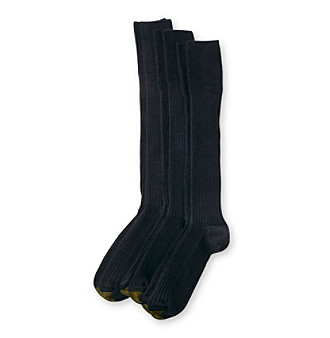GOLD TOE® Men's Windsor Wool 3-Pack Over the Calf Socks