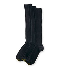 GOLD TOE® Men's 3-Pack Windsor Wool Over the Calf Socks