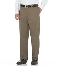 Savane® Men's Big & Tall Straight Fit Flat Front Performance Chino