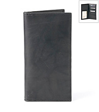 Kenneth Roberts Platinum® Men's Black Pocket Secretary Blackbrass Wallet