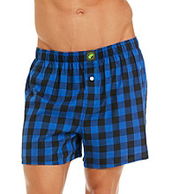 John Bartlett Statements Men's Buffalo Check Woven Boxer