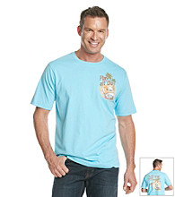 Paradise Collection® Men's Allie Aqua Short Sleeve Screen Print Tee