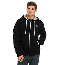 Champion® Eco Men's Black Fleece Full-Zip Hoodie