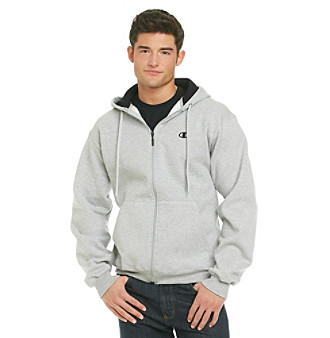 Champion® Eco Men's Oxford Fleece Full-Zip Hoodie