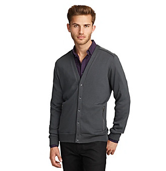Kenneth Cole New York® Men's Ash Grey Long Sleeve Knit Cardigan