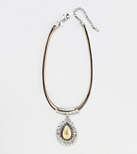 Laura Ashley® Tri-Tone Pendant Necklace