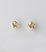Studio Works® Goldtone Love Knot Post Earrings