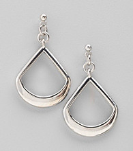 Studio Works® Silvertone Open Work Post Earrings