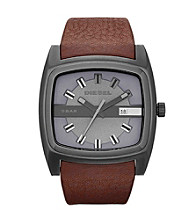 Diesel Brown Gunmetal Mr. Red Watch