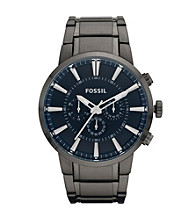 Fossil® Men's Black and Navy Chronograph Dress Watch