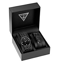 Guess Black Slim Dress Watch Set