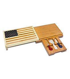 Picnic Time® Old Glory-USA Flag Cutting Board and Tools Set