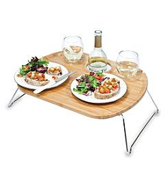 Picnic Time® Mesamio-Portable Wine and Snack Table for Two