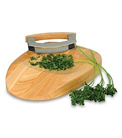 Picnic Time® Herb Rubberwood Chopping Block