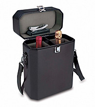 Picnic Time® Adagio Black with Grey 2-Bottle Wine Case