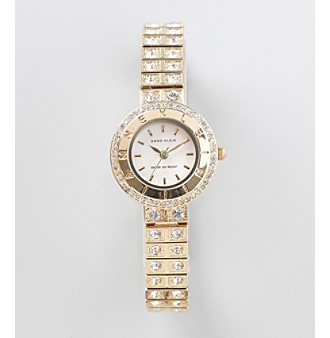 Anne Klein® Crystal & Goldtone Dress Watch