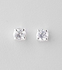 Lauren Ralph Lauren Clear Crystal Cubic Zirconia Stud Earrings
