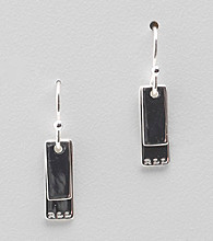 Lauren Ralph Lauren Silvertone Double Tag Drop Earrings