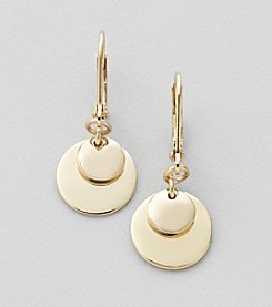 Lauren Ralph Lauren Goldtone Multi Disc Earrings