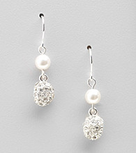 Lauren Ralph Lauren White Pearl Small Earrings