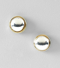 Lauren Ralph Lauren Two Tone Button Earrings