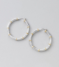 Lauren Ralph Lauren Two Tone Hoop Earrings