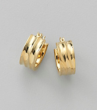 Lauren Ralph Lauren Goldtone Chubby Hoop Earrings