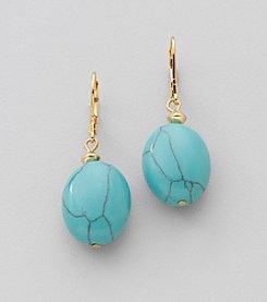 Lauren Ralph Lauren Goldtone and Turquoise Nugget Earrings