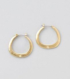 Lauren Ralph Lauren Matte Gold Hoop Earrings