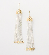 Lauren Ralph Lauren Two Tone Tassel Earrings