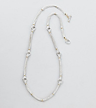 Lauren Ralph Lauren Two Tone Chain Long Necklace