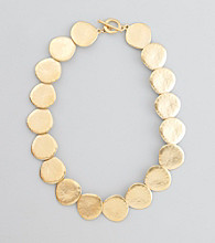 Lauren Ralph Lauren Hammered Matte Goldtone Necklace