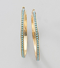Lauren Ralph Lauren Turquoise/Goldtone Earrings