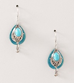 Silver Forest® Teal Layered Teal Earrings