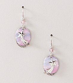 Silver Forest® Purple Shooting Star Earrings
